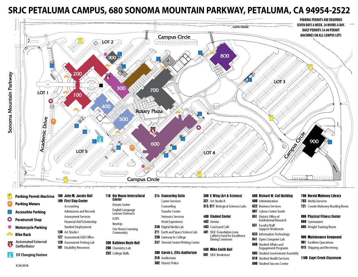 Maps Directions Petaluma Campus