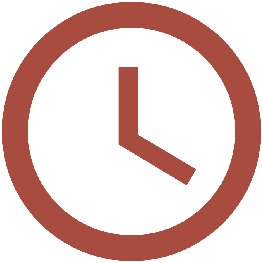 an outline of a clock