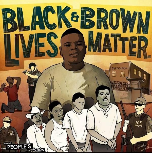 black and brown live matter art